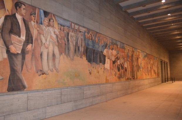 GDR-era Max Lingner mural