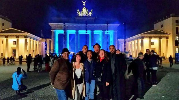 Friends at the Gate: Ivan, Birgit , Marcel, Me, Bobby, Liese, Robert