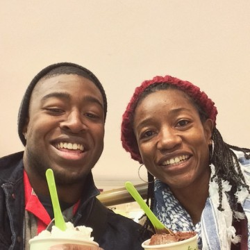 Christian and me enjoying our gelato