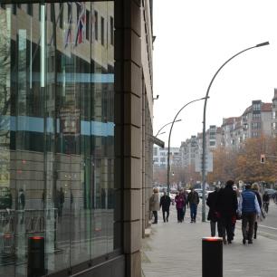 View down part of Unter den Linden