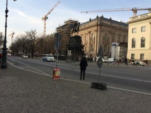 Statue looking east on Unter den Linden