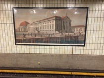 Hausvogteiplatz station wall painting from turn of the century