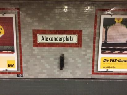 Alexanderplatz underground station wall