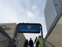 Exiting the Alexanderplatz Bahnhof