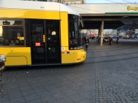 The famous yellow trams of former E. Berlin