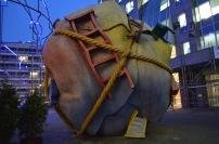 Near Checkpoint Charlie: Dr. Seuss art piece?