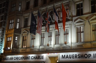 Allied Flags at Checkpoint Charlie