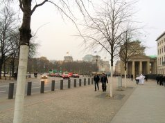 Eberstrasse as it passes behind Brandenburg Gate