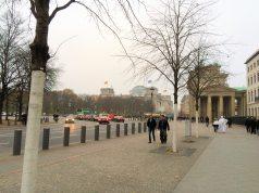 Eberstrasse as it passes behind Brandenburg Gate