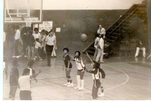Me at free thow line at Cole Sports Center 1982