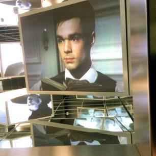 Movie scene adorns the entryway