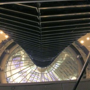 Looking down into the Bundestag debating chamber
