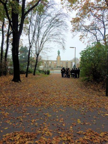 Russian War Memorial viewed from the Tiergarten