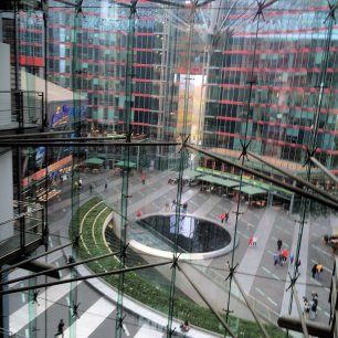 Inside Sony Center viewed from fourth floor