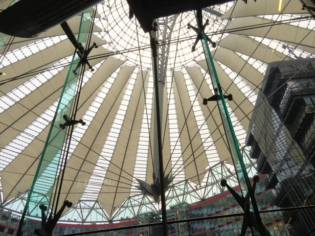 The famous Sony Center roof