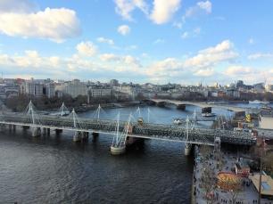 London Eye View: Millennium Bridge