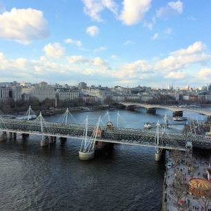 London Eye View: Millennium Bridge