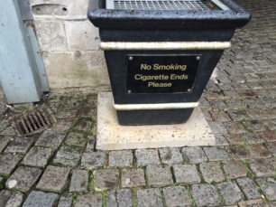 No smoking cigarette ends?