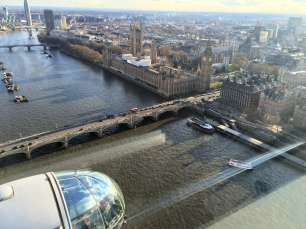 London Eye View: Parliament and Elizabeth Tower