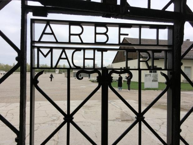 "Nazi barbarism: Work makes you free"""